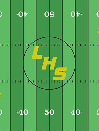 A midfield rendering of the turf installation project at Lindbergh High School