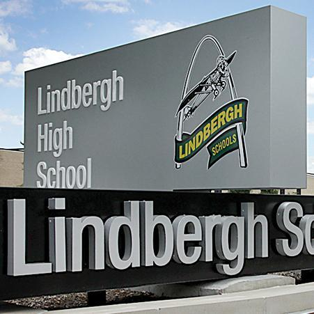 Lindbergh High School monument sign