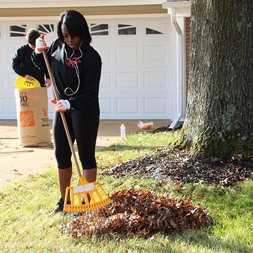 Students Offer Help Raking Leaves this Fall