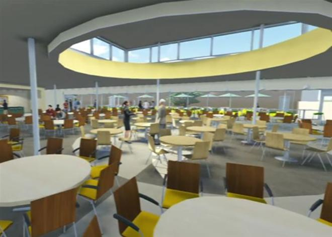 lindbergh high school cafeteria rendering from ittner architects